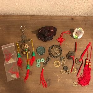 Big Assortment Asian Feng Shui Tokens Decor